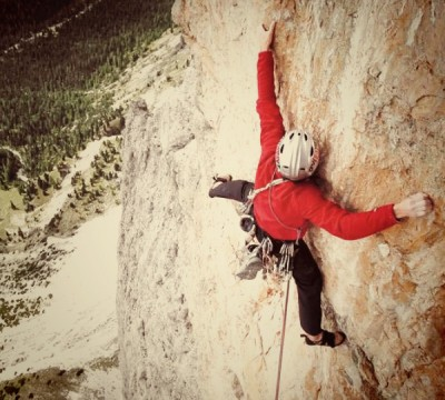 Multi-pitch Rock Climbing in the Dolomites