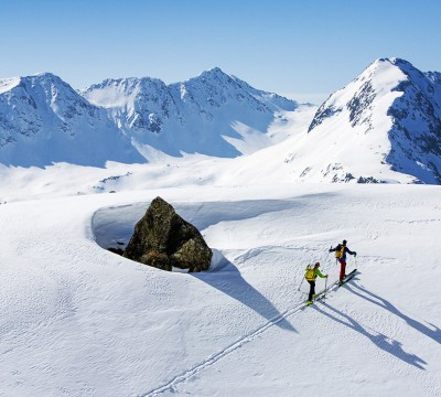 Ski Touring Adamello Glacier